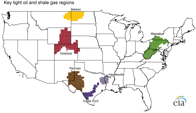 William A Bacons Energy Subpage - Us natural gas reserves map